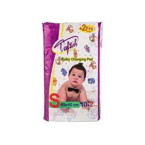 زیرانداز یکبار مصرف کودک تافته بسته ۱۲ عددی