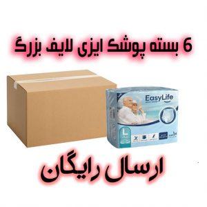 یک کارتن پوشک بزرگسال شورتی ایزی لایف سایز بزرگ - لارج با ارسال رایگان در تهران و کرج