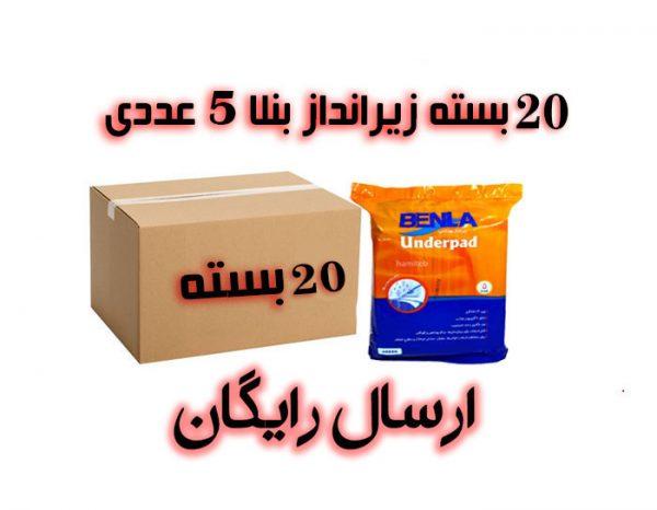 زیرانداز بهداشتی بنلا مجموعه 20 بسته ای با ارسال رایگان
